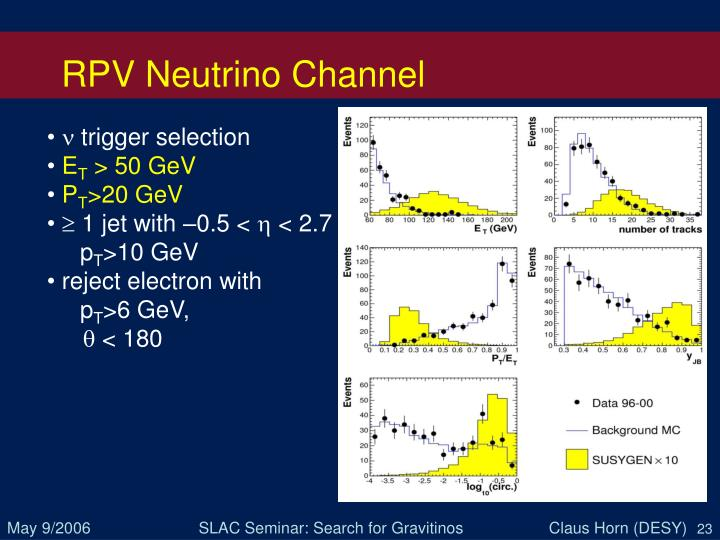 RPV Neutrino Channel
