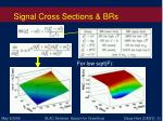 signal cross sections brs