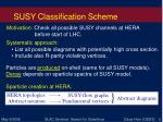 susy classification scheme