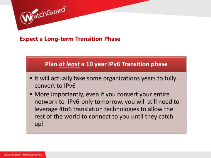 Expect a Long-term Transition Phase