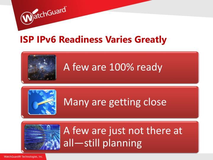 ISP IPv6 Readiness Varies Greatly