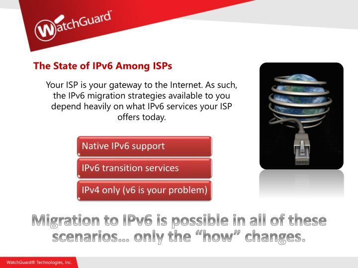 The State of IPv6 Among ISPs