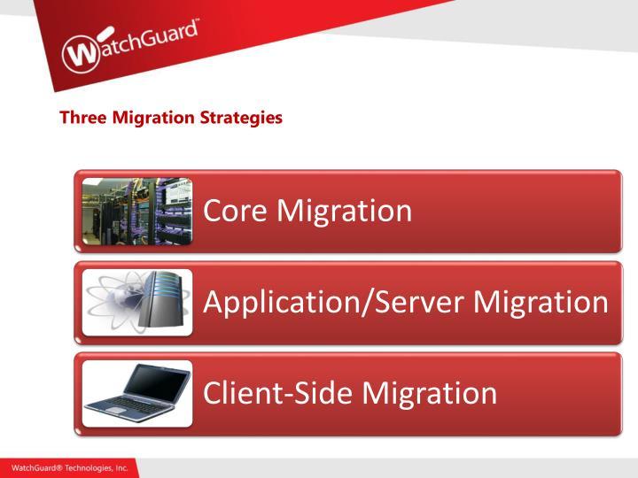 Three Migration Strategies