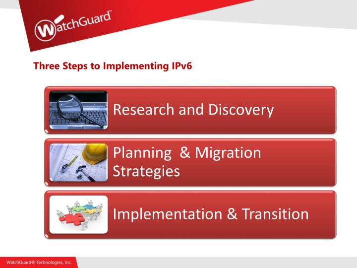 Three Steps to Implementing IPv6