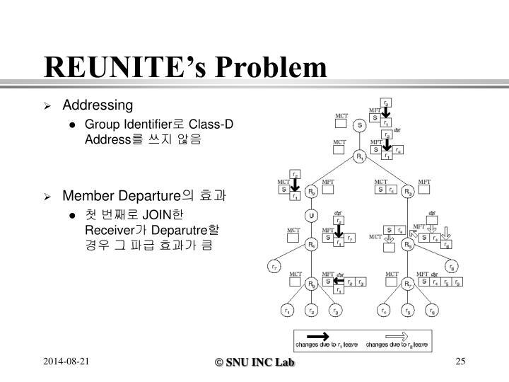 REUNITE's Problem