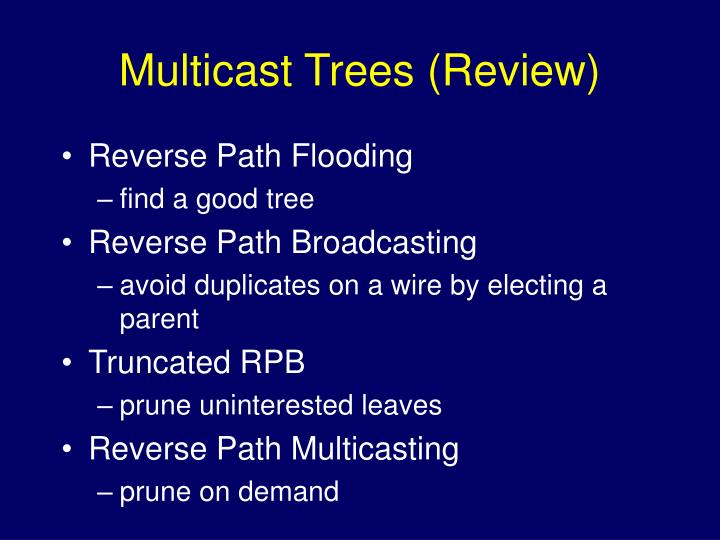 Multicast Trees (Review)
