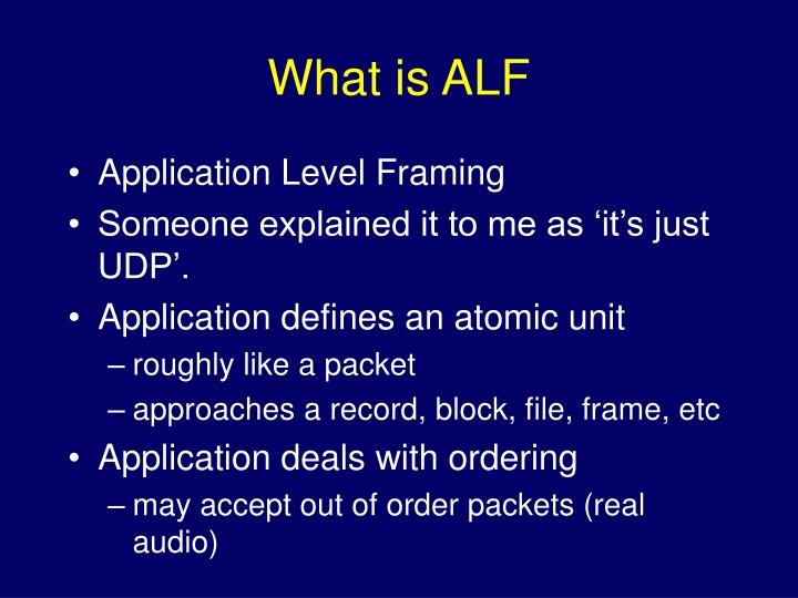 What is ALF