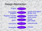 design abstraction