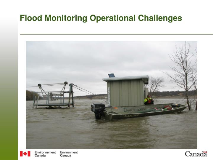 Flood Monitoring Operational Challenges