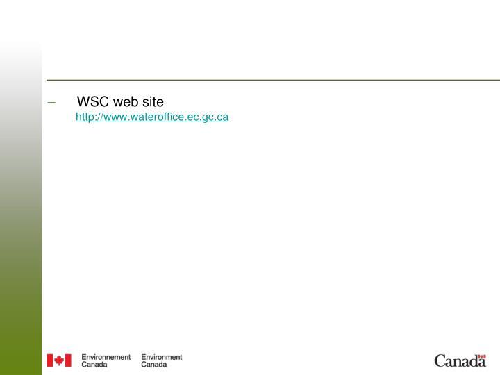 WSC web site