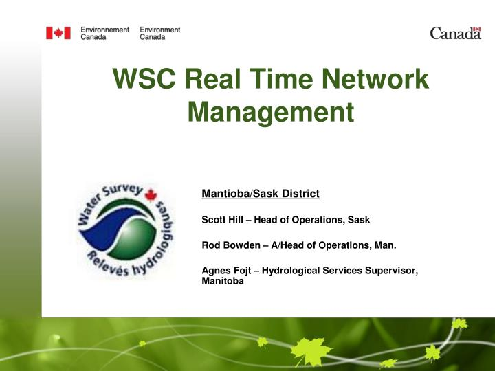 Wsc real time network management