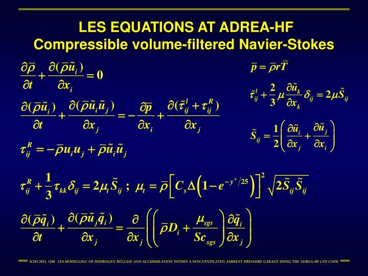 LES EQUATIONS AT ADREA-HF