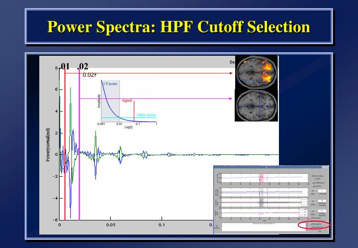 Power Spectra: HPF Cutoff Selection