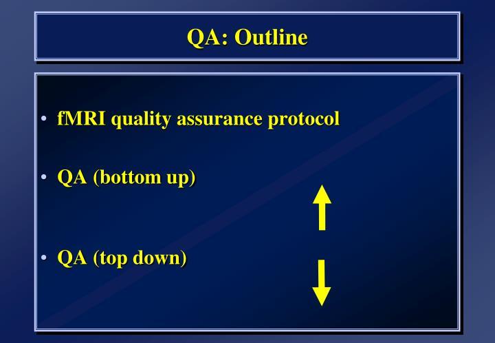 QA: Outline