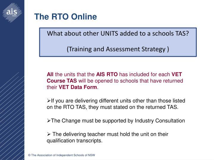 The RTO Online