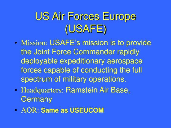 US Air Forces Europe (USAFE)
