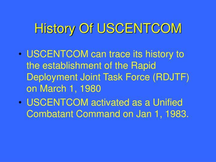 History Of USCENTCOM