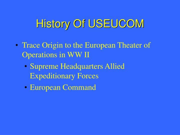 History Of USEUCOM