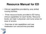 resource manual for ed