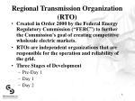 regional transmission organization rto