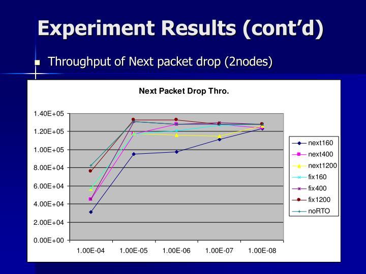 Experiment Results (cont'd)