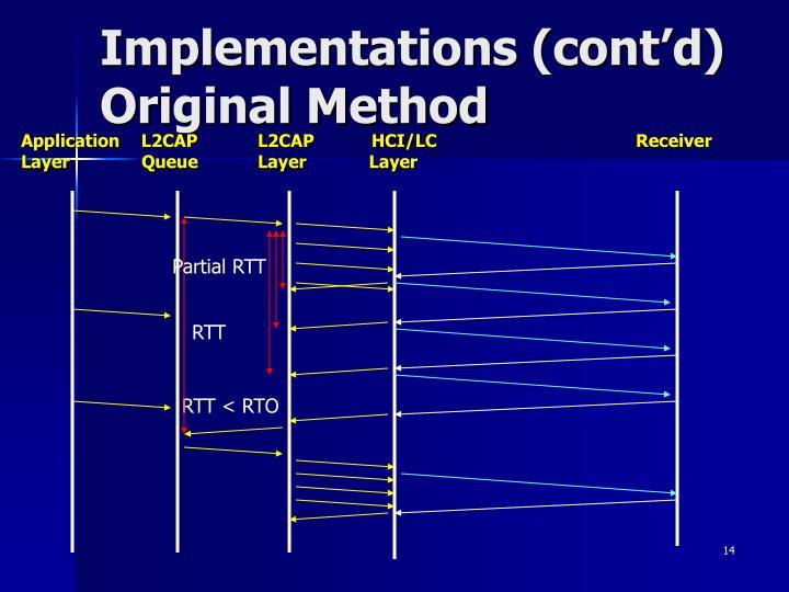 Implementations (cont'd)