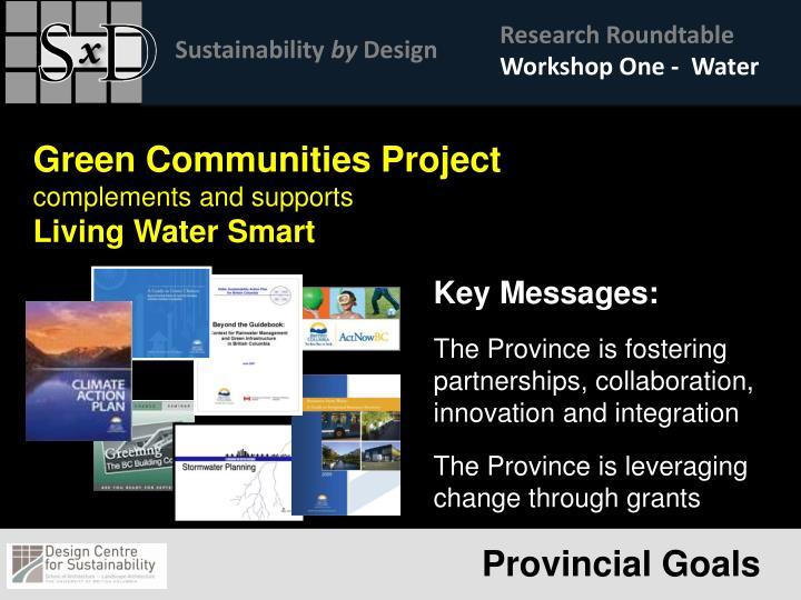 Workshop One -  Water