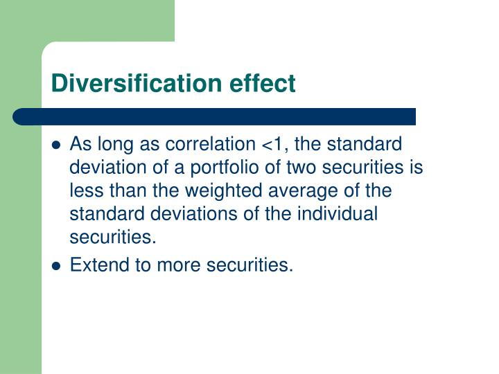 Diversification effect