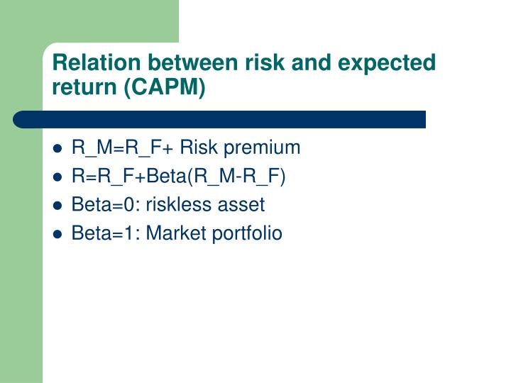 Relation between risk and expected return (CAPM)