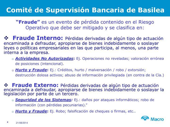 Comité de Supervisión Bancaria de Basilea