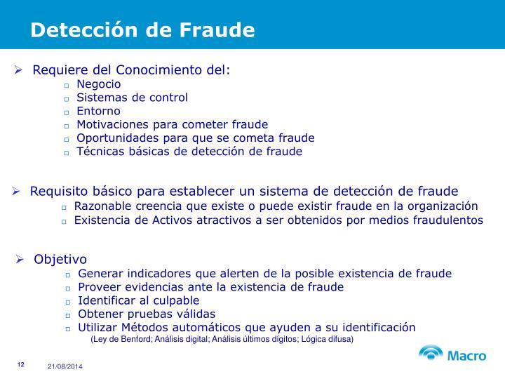 Detección de Fraude