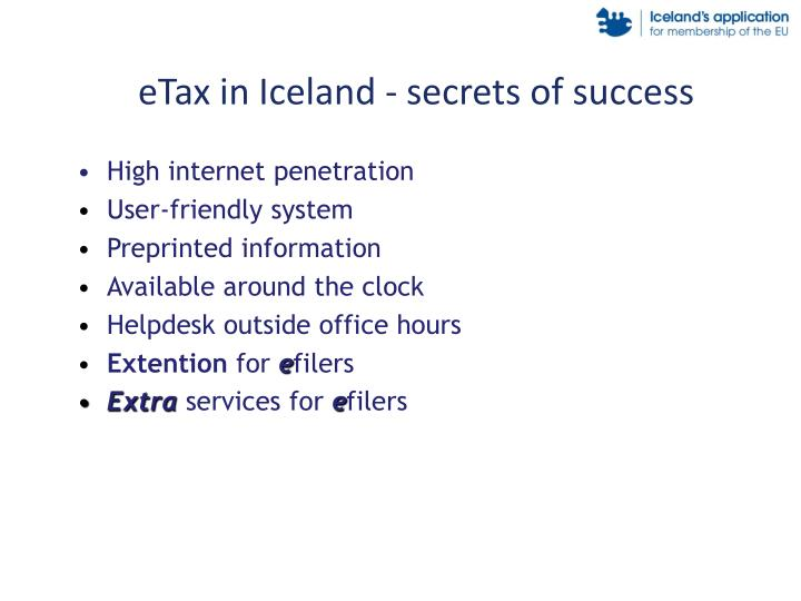 eTax in Iceland - secrets of success