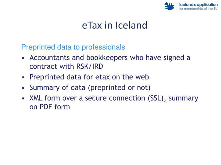 eTax in Iceland