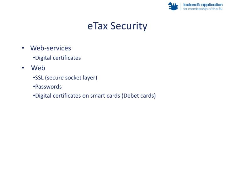 eTax Security