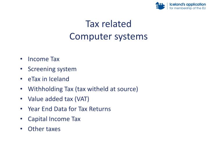 Tax related