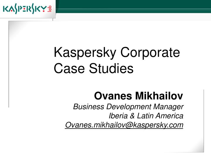 corporate case studies We determined that the main culprits were actually senior management/former owners of the company who felt that it would be impossible for them to operate effectively.