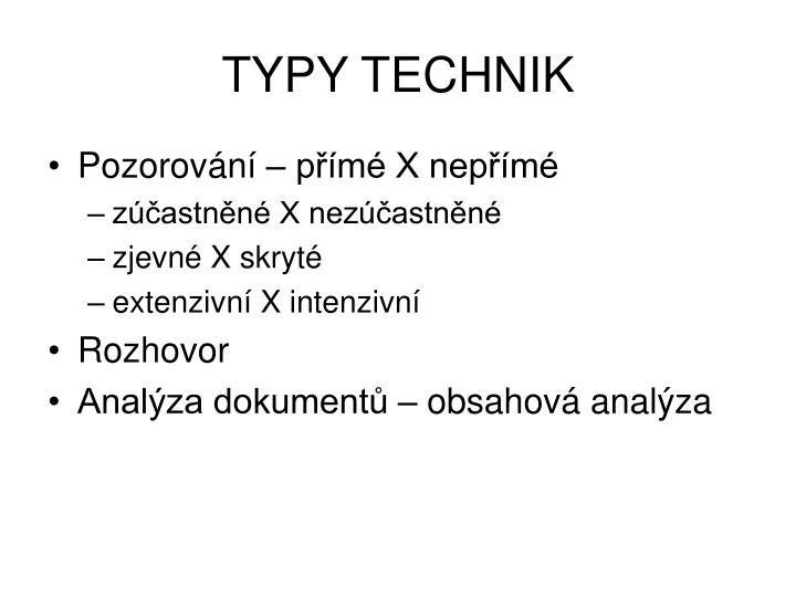 TYPY TECHNIK