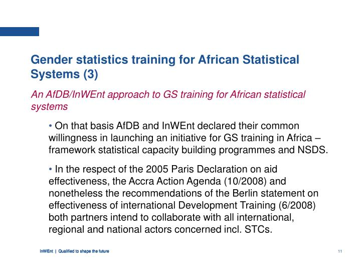 Gender statistics training for African Statistical Systems (3)