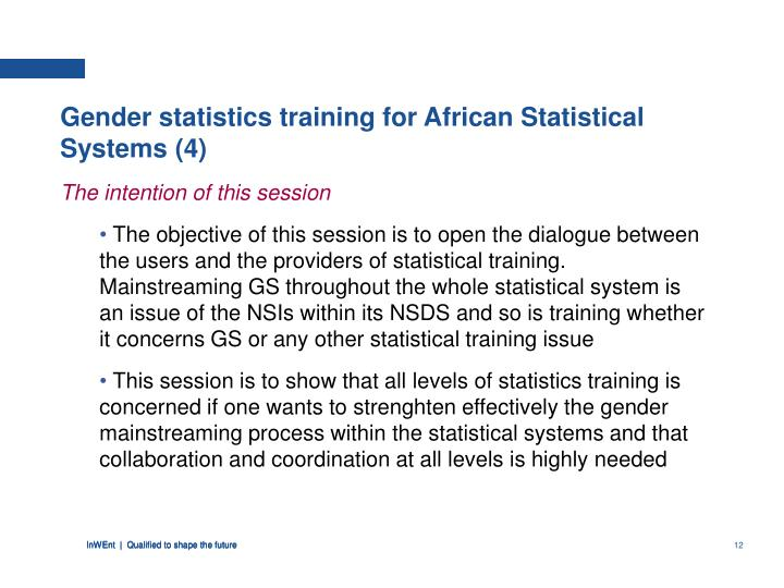 Gender statistics training for African Statistical Systems (4)