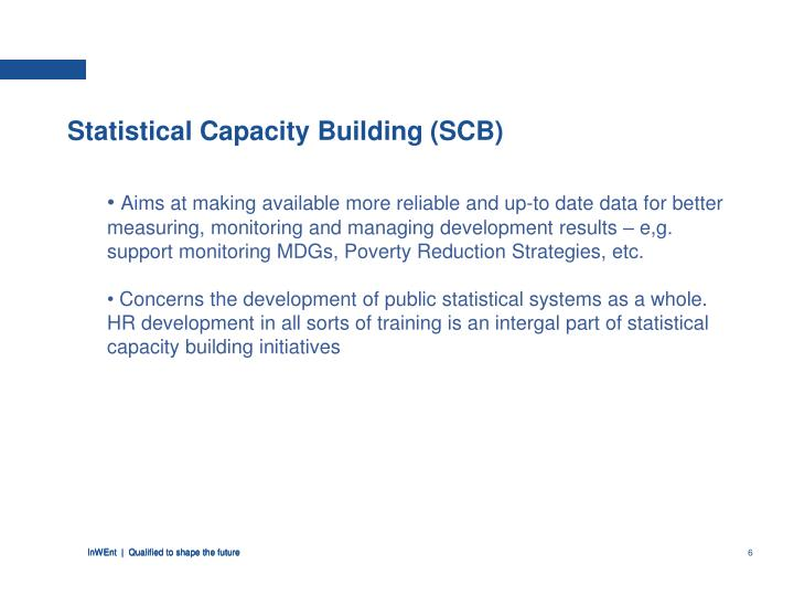 Statistical Capacity Building (SCB)