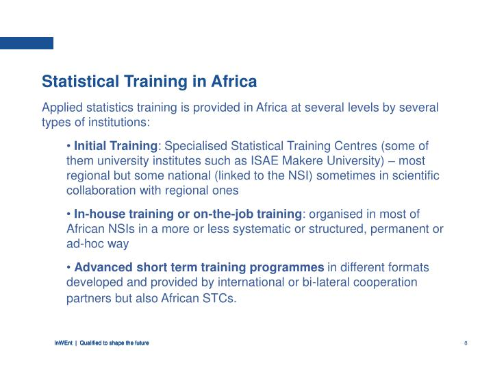 Statistical Training in Africa