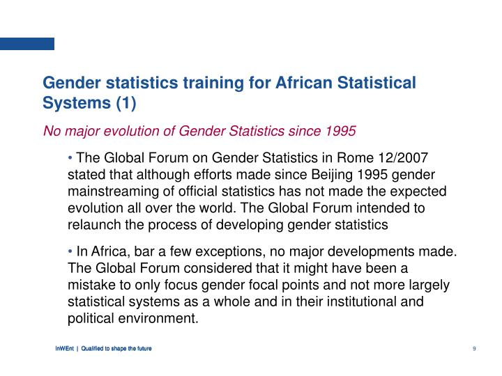 Gender statistics training for African Statistical Systems (1)