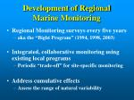 development of regional marine monitoring