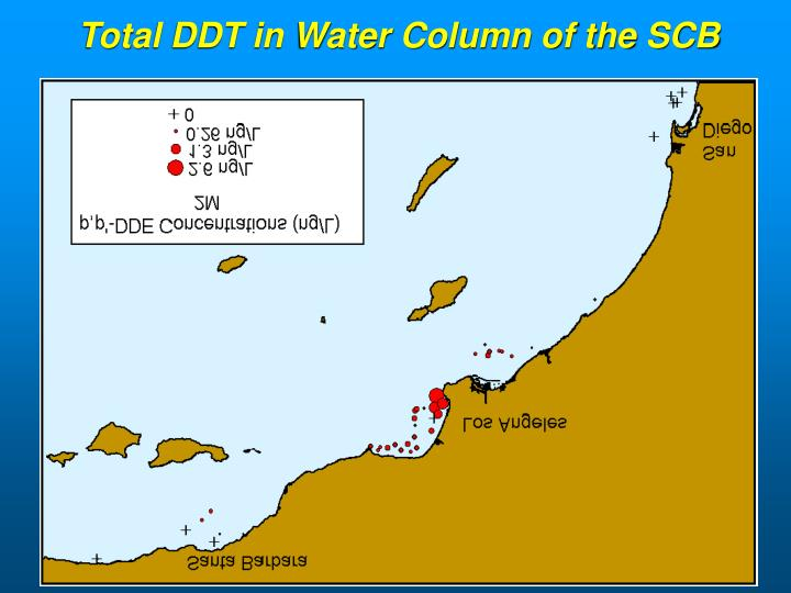 Total DDT in Water Column of the SCB