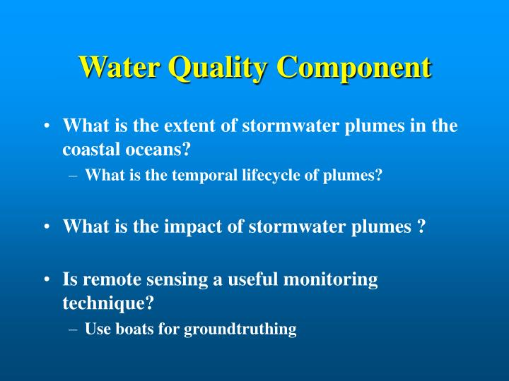 Water Quality Component