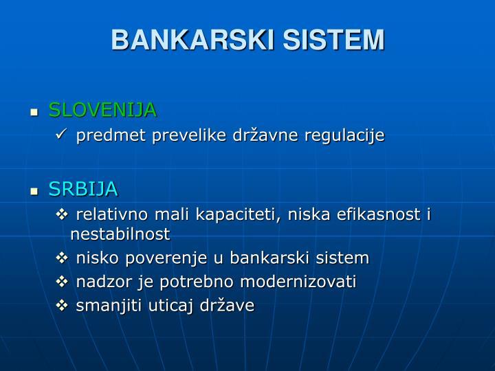 BANKARSKI SISTEM