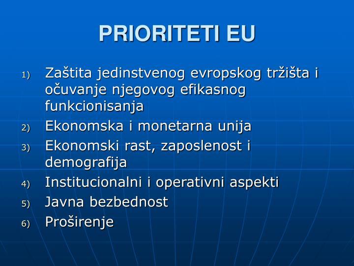 PRIORITETI EU