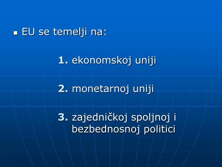 EU se temelji na: