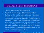 balanced scoredcard bsc