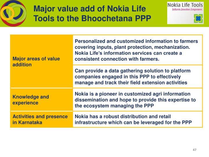 Major value add of Nokia Life